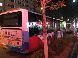 営業終了後のバス