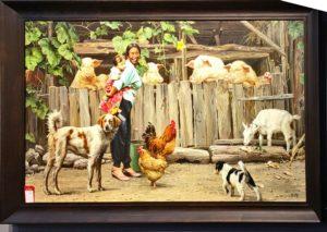 北朝鮮の画家が描いた絵