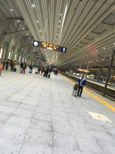 丹東駅ホーム
