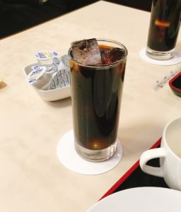 キッチンスズキの食後のアイスコーヒー