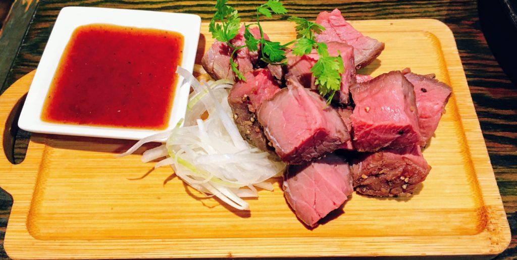 清瀬ダイニングの自家製牛肉のロースト