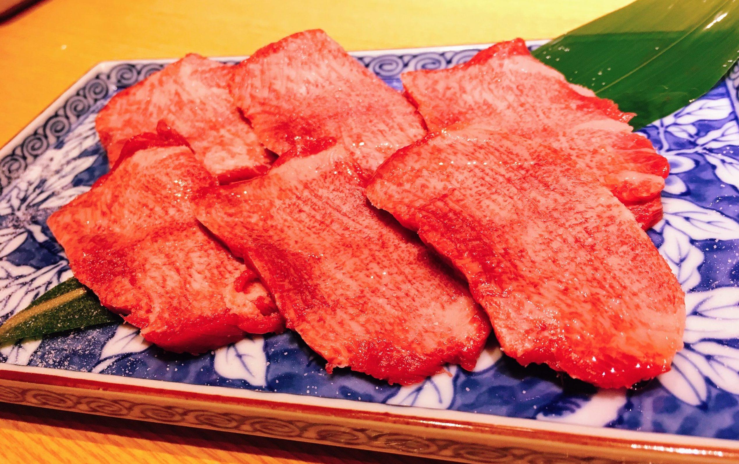 「赤身肉と塩ホルモン べんてん」の上牛タン