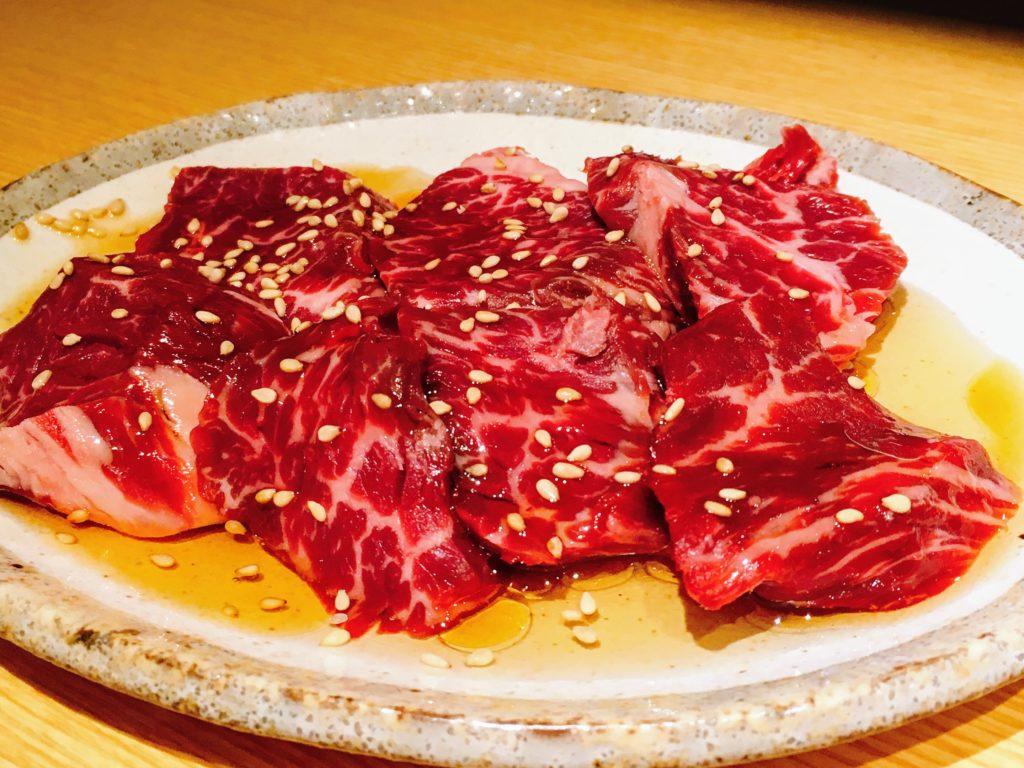 「赤身肉と塩ホルモン べんてん」のハラミ