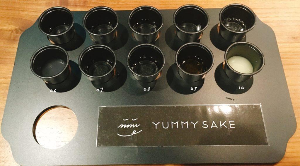 「未来日本酒店&SAKE BAR」のYUMMY SAKEのテイスティングセット