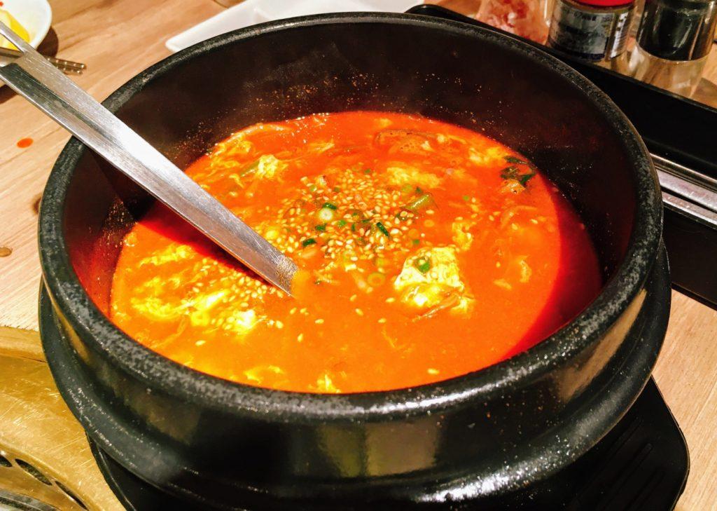 炭焼喰人のユッケジャンスープ