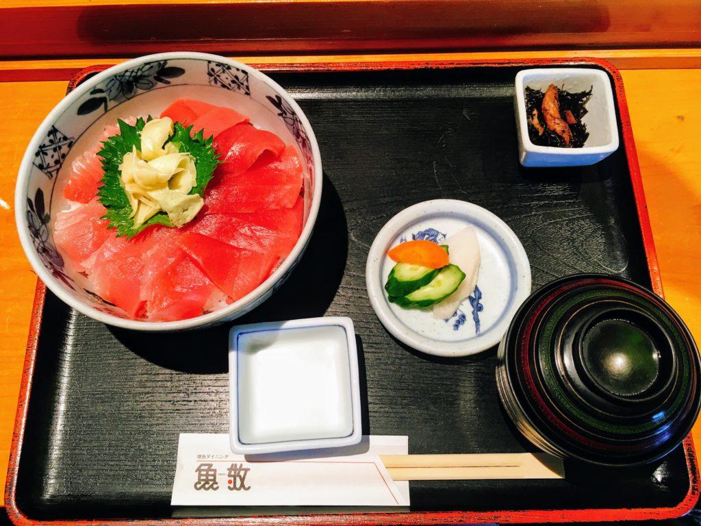 魚敬 地魚ダイニング 三浦海岸本店のまぐろ丼
