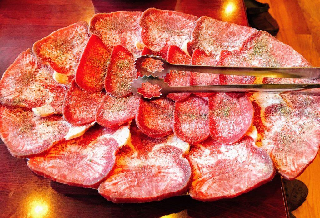 焼肉北京のアメリカ産タン塩