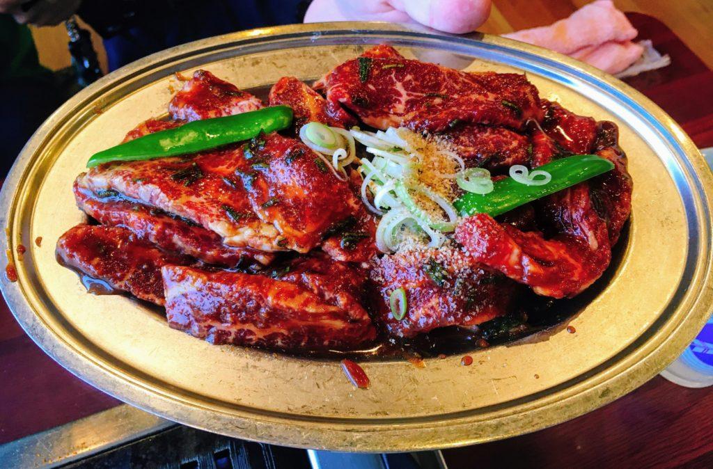 焼肉北京の上カルビ