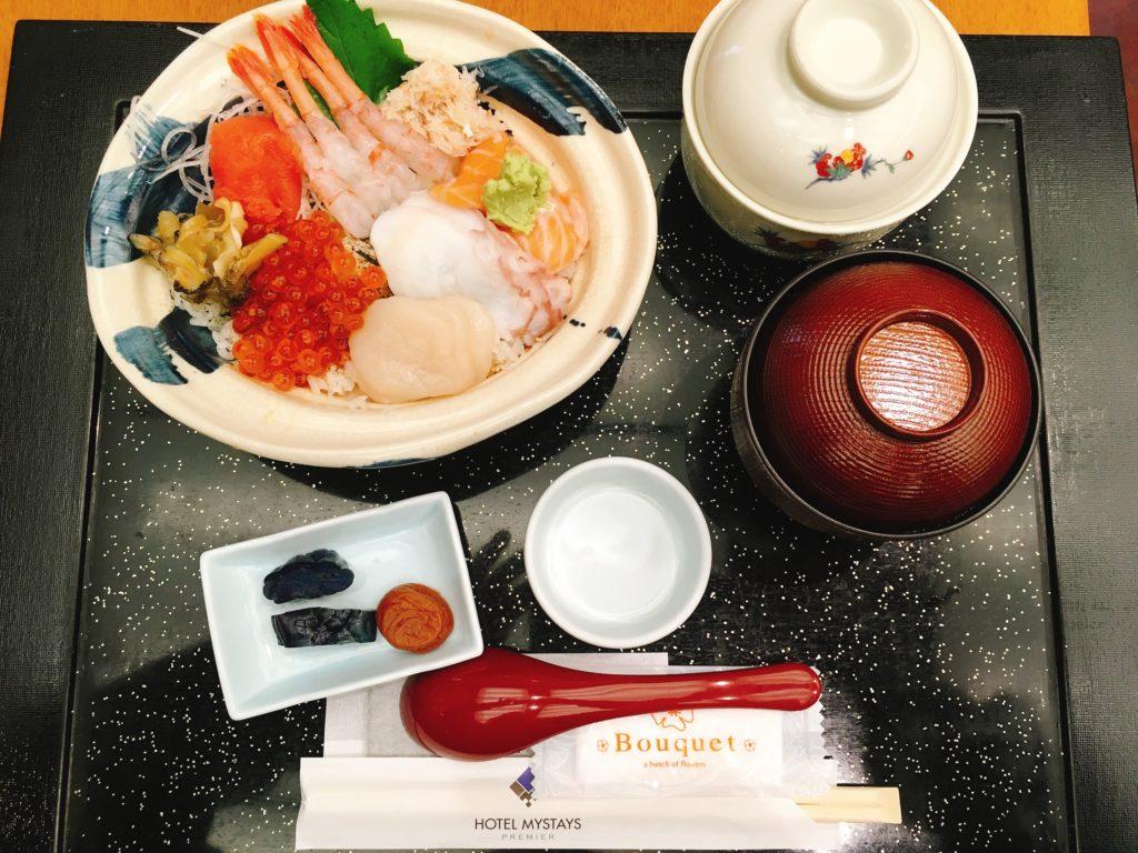 ホテルマイステイズプレミア札幌パークの朝食の写真
