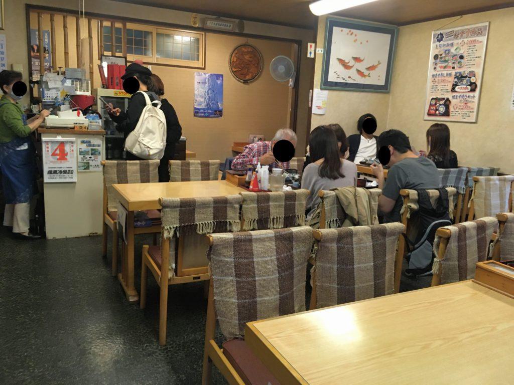 「食事処 寿」の店内写真