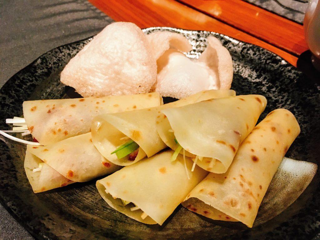 「王朝」の北京烤鴨(北京ダック)