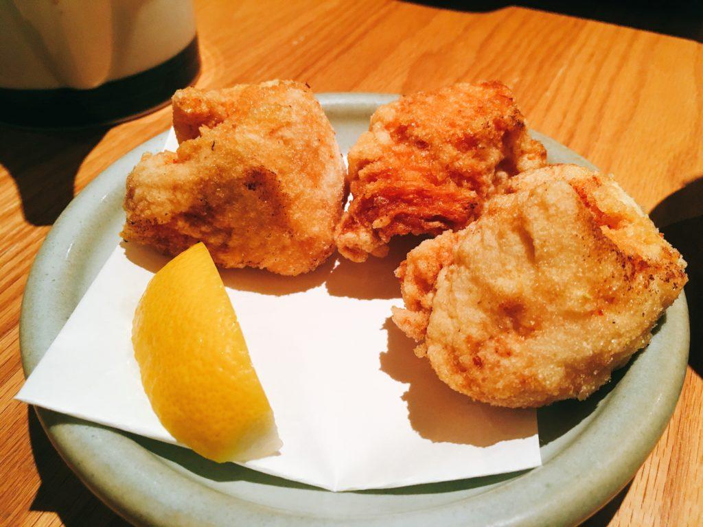 「博多水炊き専門 橙」の唐揚げの写真