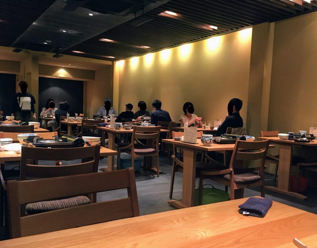 「博多水炊き専門 橙」の店内の写真