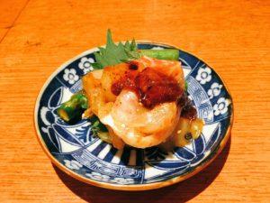 「肉者」の本日の生キムチ:『真鯛・アスパラ』