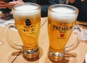 「鮨・酒・肴 杉玉 日吉」のプレミアムモルツの写真